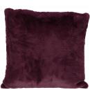 Faux fur Pillows Lino, L45cm, B45cm, burgundy